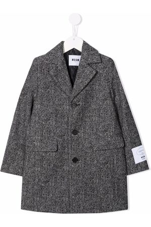 Msgm Logo-patch single-breasted coat