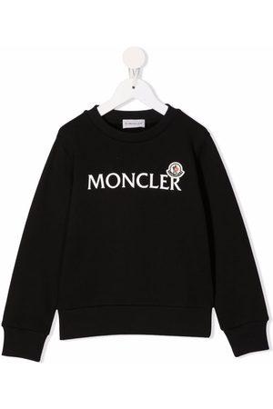 Moncler Meisjes Sweaters - Logo-print crew-neck sweatshirt