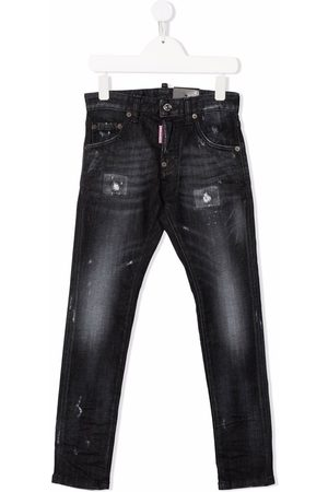 Dsquared2 Distressed-finish slim-fit jeans