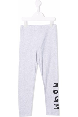 Msgm Logo-print cotton leggings