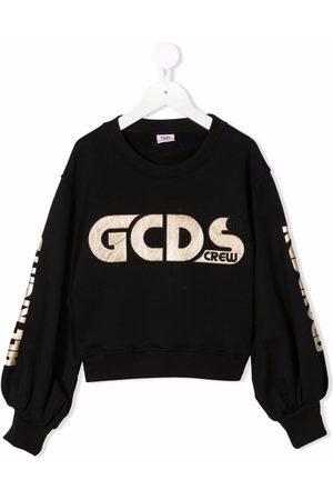 GCDS Logo-embroidered cotton sweatshirt