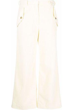 Kenzo Corduroy side flap-pocket trousers