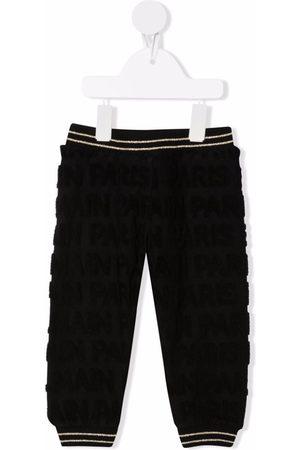 Balmain Kids Stripe-trim cotton track pants