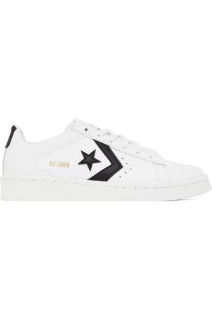 Converse White Leather Pro Low-Top Sneakers
