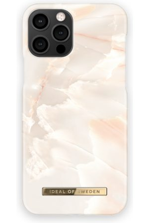 Ideal of sweden Fashion Case iPhone 12 Pro Rose Pearl Marble