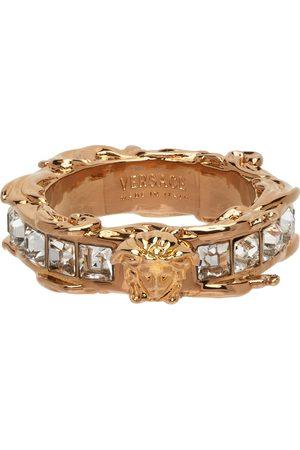 VERSACE Heren Ringen - Gold Medusa Crystal Ring
