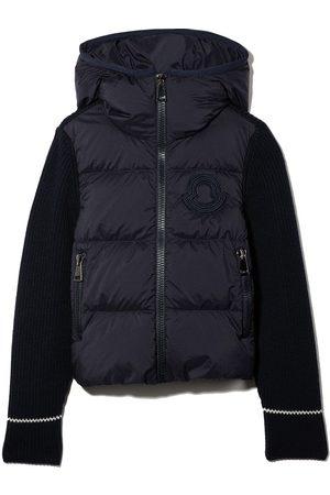 Moncler Contrasting-sleeve padded jacket