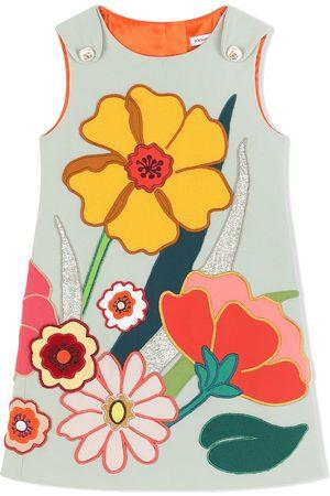 Dolce & Gabbana Sleeveless floral-patch dress