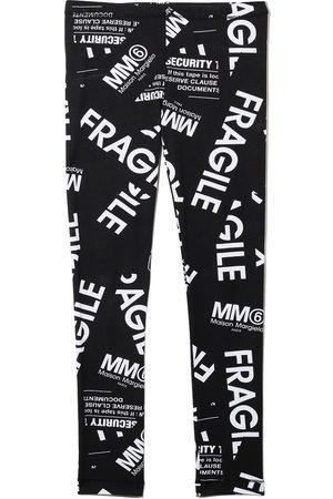 MM6 MAISON MARGIELA KIDS Fragile print leggings