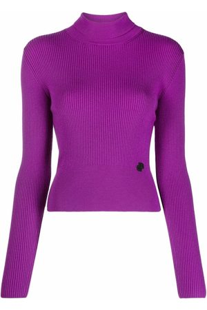 Patou High-neck ribbed-knit jumper