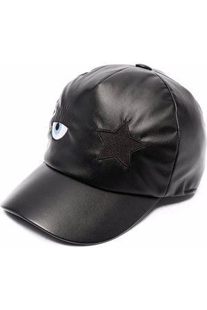 Chiara Ferragni Eye-patch faux leather baseball cap