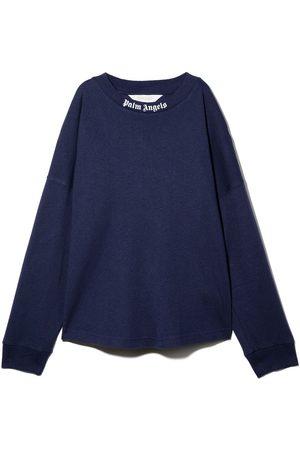 Palm Angels Meisjes Sweaters - Logo print crew neck sweatshirt