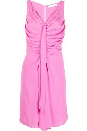 Dior Dames Mouwloze jurken - 2010s pre-owned draped front sleeveless dress