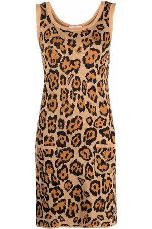 Dior Dames Gebreide jurken - 2010s pre-owned animal-pattern knitted dress