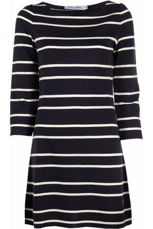 Dior 2010s pre-owned stripe-pattern minidress