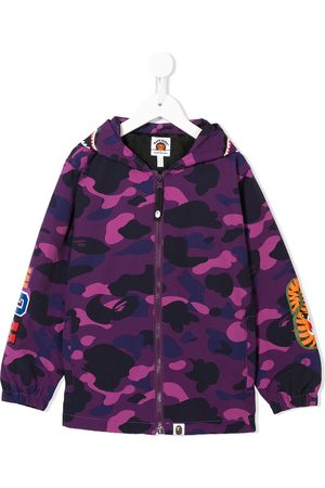 A Bathing Ape Camouflage print hooded jacket