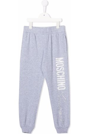 Moschino Embellished-logo jogging trousers