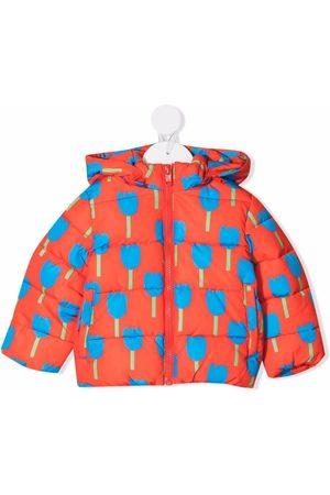 Stella McCartney Floral-print hooded puffer jacket