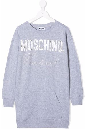 Moschino Embellished Couture logo dress