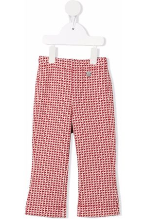 MONNALISA Houndstooth flares trousers