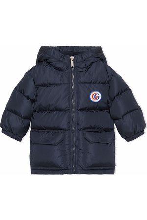 Gucci Donsjassen - Padded logo-patch hooded coat