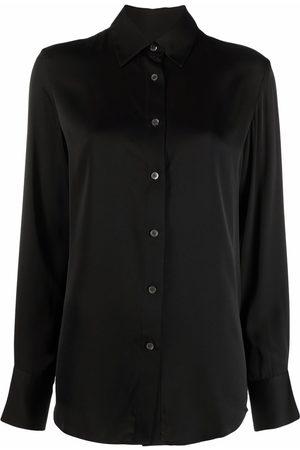 Filippa K Dames T-shirts - Eira silk shirt