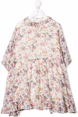 BONPOINT Floral-print ruffled dress