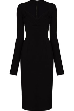 Dolce & Gabbana Sweetheart-neck fitted dress