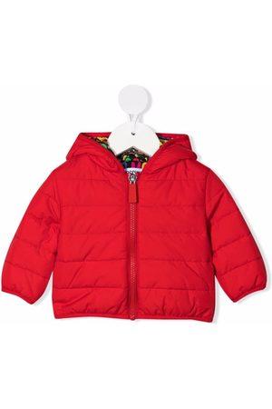 Moschino Donsjassen - Logo-print zipped padded jacket