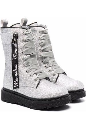 MONNALISA Glitter detail calf-length boots
