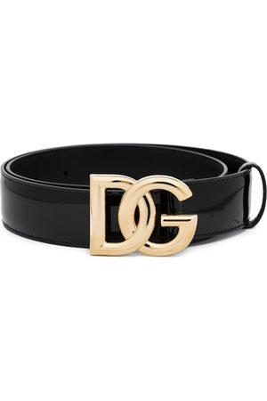 Dolce & Gabbana DG logo leather belt