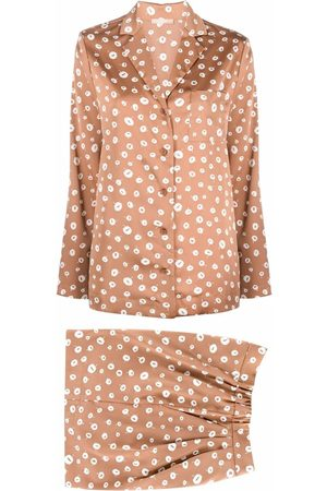 12 STOREEZ Floral pyjama-style two piece suit