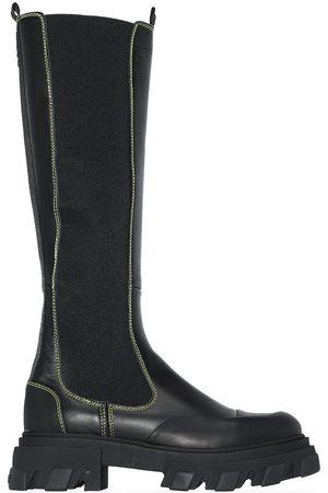 Ganni Dames Hoge laarzen - Knee-high leather boots