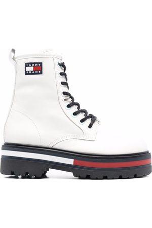 Tommy Hilfiger Logo-patch lace-up bootd