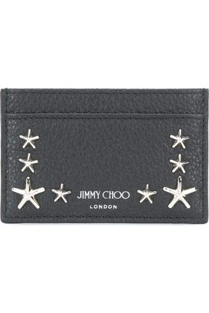 Jimmy Choo Heren Portefeuilles - Star studded leather card holder