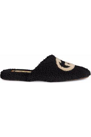 Gucci Interlocking-G textured slippers