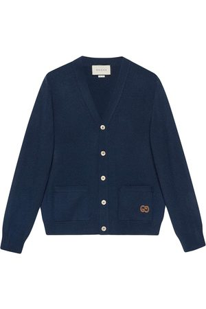 Gucci Logo-embroidered knitted cardigan