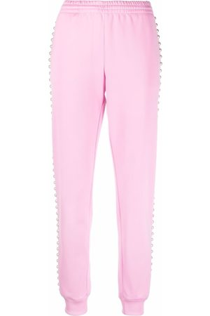 Moschino Side pearl-detail track pants