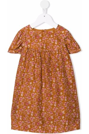BONPOINT Floral-print habotai silk dress