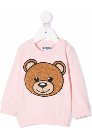 Moschino Sweaters - Teddy Bear-embroidered sweatshirt