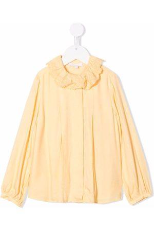 Chloé Meisjes Lange mouw - Long-sleeve collared shirt