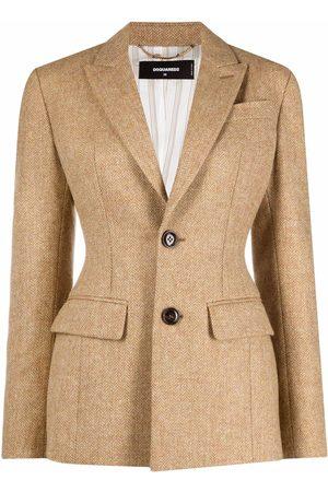 Dsquared2 Chevron-knit single-breasted blazer