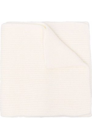 Msgm Jongens Sjaals - Ribbed-knit logo patch scarf