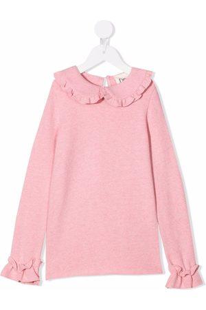 DOUUOD KIDS Meisjes Truien - Ruffle-trim knitted top