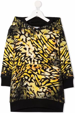 Givenchy Meisjes Casual jurken - Abstract-print hooded dress