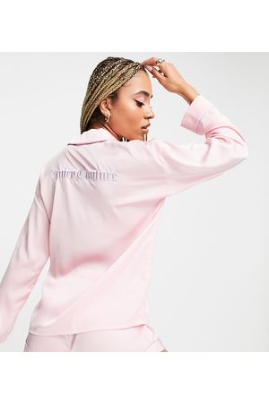 Juicy Couture X ASOS co-ord satin pyjama short in pink