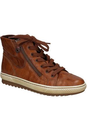 Gabor Dames Hoge sneakers - Cognac Hoge Sneakers