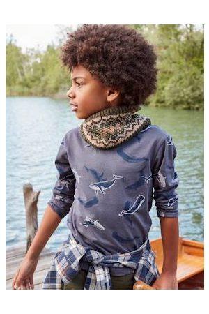 Vertbaudet Jongens-T-shirt met lange mouwen en walvismotief Oeko-Tex®. medium met print