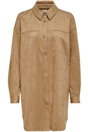 Only Faux Suede Jacket Dames Bruin