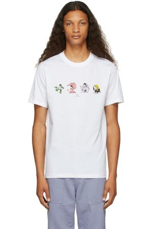 PS by Paul Smith White Monkey Line-Up T-Shirt